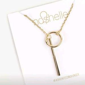 NWT Causebox Nashelle Gold Tone Lariat Necklace
